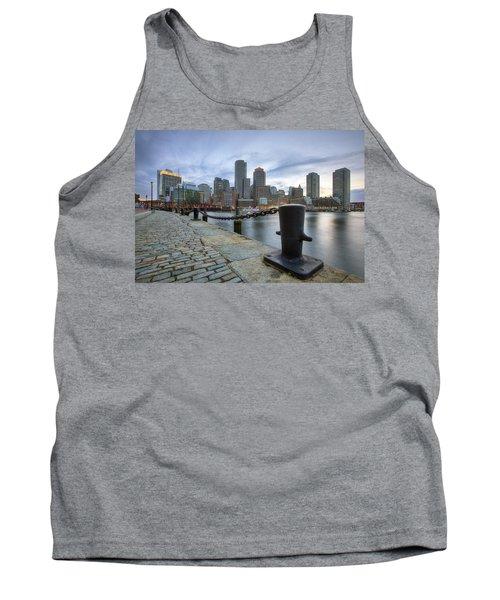Boston Skyline Sunset Tank Top