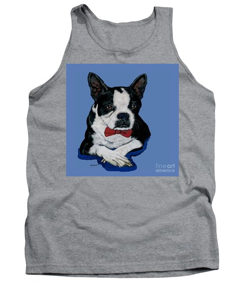 Boston Terrier With A Bowtie Tank Top
