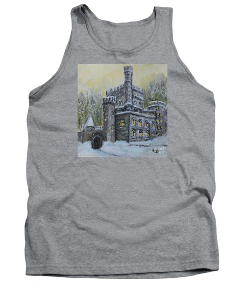 Tank Top featuring the painting Brandeis University Castle by Rita Brown