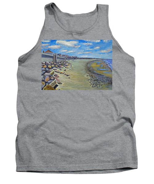 Tank Top featuring the painting Brant Rock Beach by Rita Brown