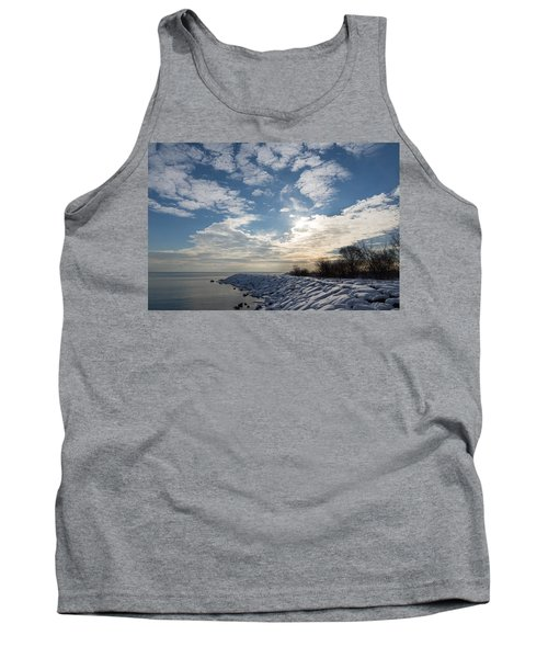 Brilliant Sunshine After The Snowstorm - A Winter Beach On Lake Ontario Tank Top
