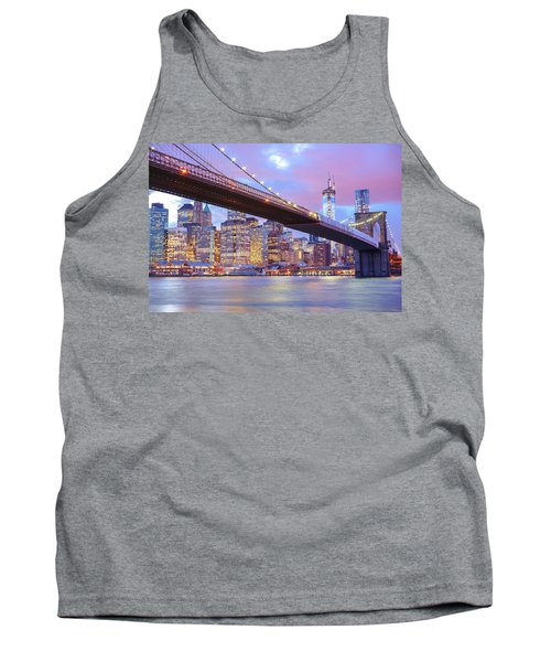 Brooklyn Bridge And New York City Skyscrapers Tank Top