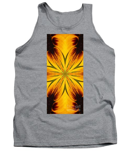 Brown And Yellow Abstract Shapes Tank Top