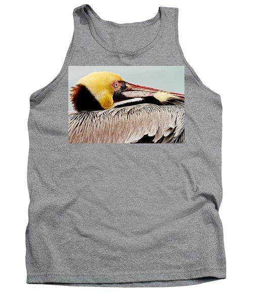 Brown Pelican Profile Tank Top