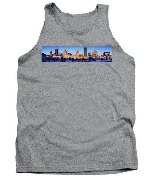 Buildings In Winter, Montreal, Quebec Tank Top