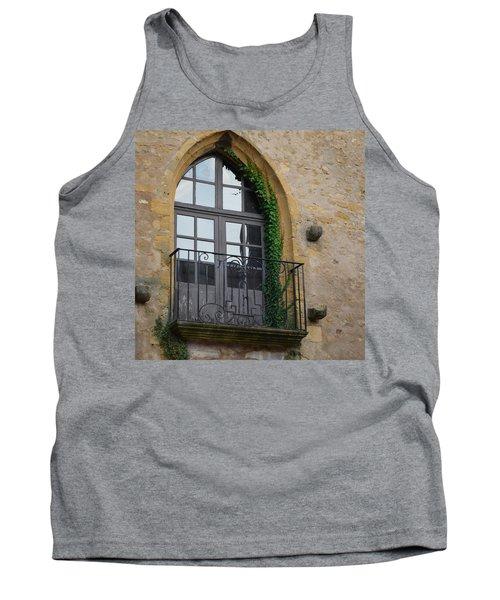 Burgundy Window Tank Top