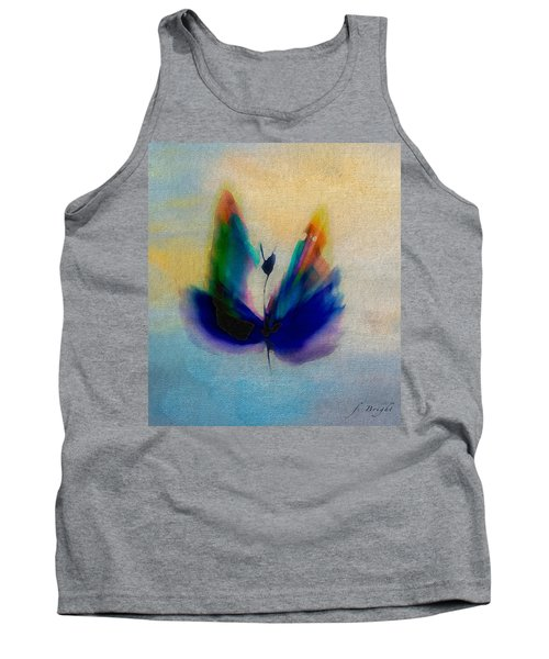 Tank Top featuring the digital art Butterfly In Color by Frank Bright