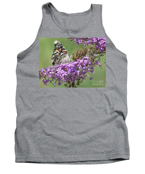 Tank Top featuring the photograph Painted Lady Butterfly by Eunice Miller