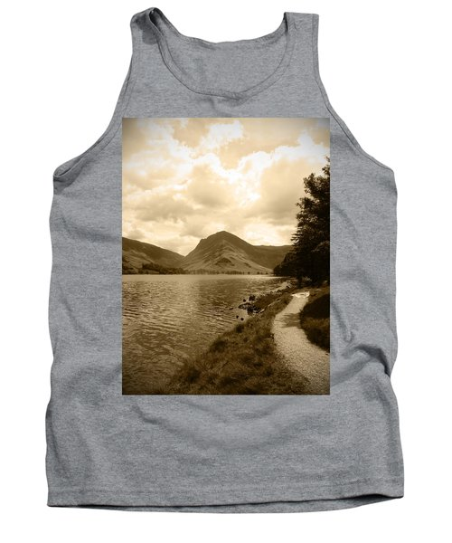 Buttermere Bright Sky Tank Top by Kathy Spall