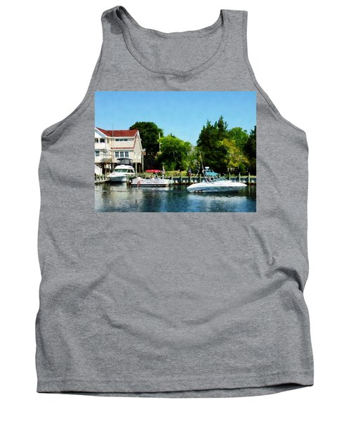 Tank Top featuring the photograph Cabin Cruisers by Susan Savad