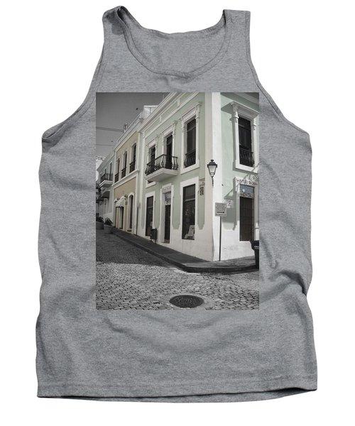 Tank Top featuring the photograph Calle De Luna Y Calle Del Cristo by Daniel Sheldon