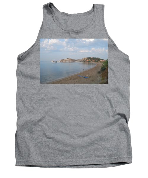 Tank Top featuring the photograph Calm Sea by George Katechis