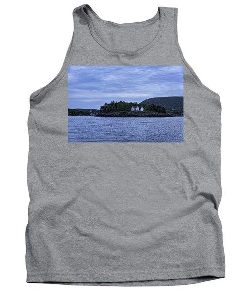 Camden Twilight N Curtis Island Light House Tank Top by Daniel Hebard