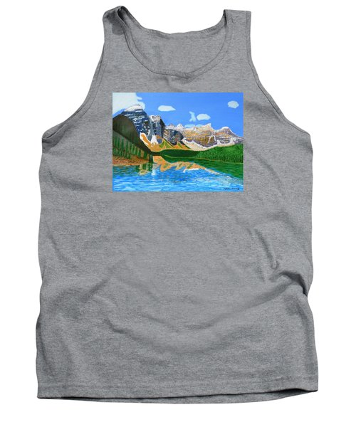 Canadian Mountains And Lake  Tank Top