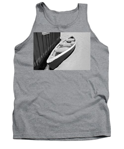 Canoe In The Snow Tank Top