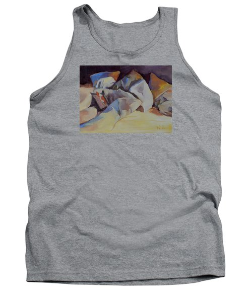 Tank Top featuring the painting Can't Put It Down by Pattie Wall