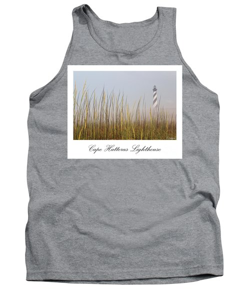 Cape Hatteras Lighthouse In The Fog Tank Top by Tony Cooper