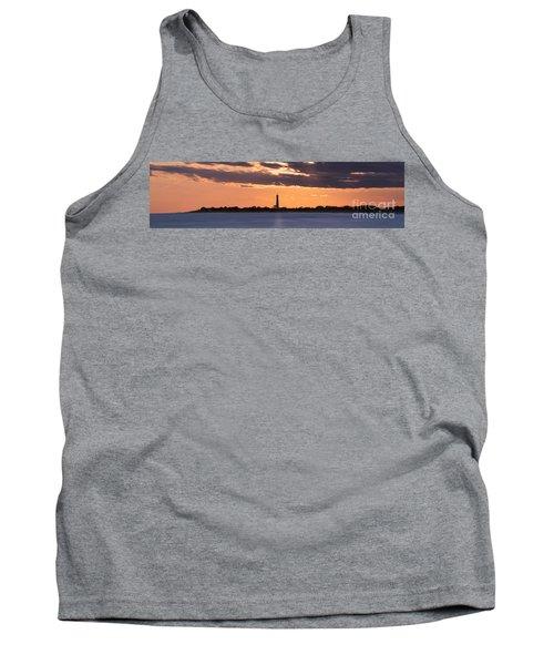 Cape May Lighthouse Sunset Panorama Tank Top