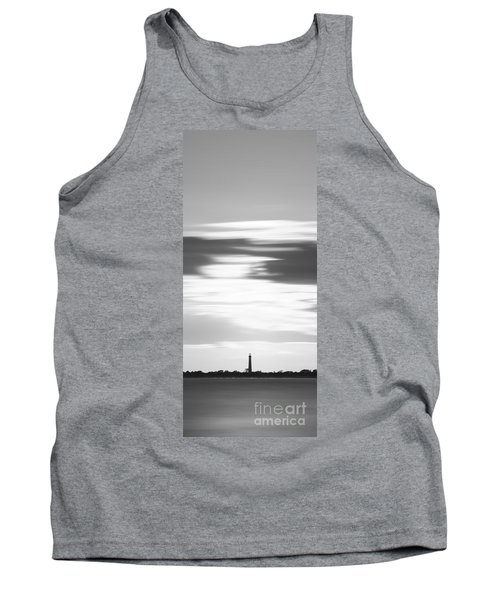Cape May Lighthouse Vertical Long Exposure Bw Tank Top
