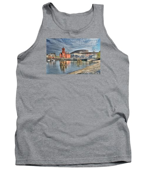 Cardiff Bay Textured Tank Top by Steve Purnell