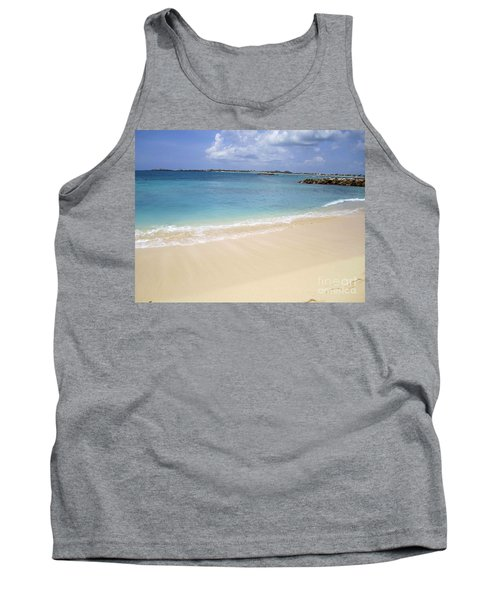 Caribbean Beach Front Tank Top by Fiona Kennard