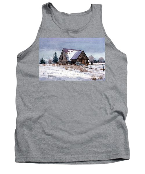 Tank Top featuring the painting Cache Valley Barn by Donald Maier
