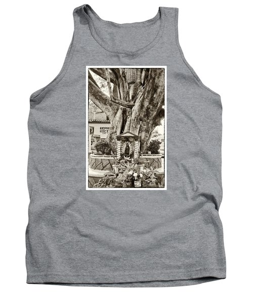 Tank Top featuring the photograph Catholic Shrine - Our Lady Of Guadalupe, Mexico - Travel Photography By David Perry Lawrence by David Perry Lawrence