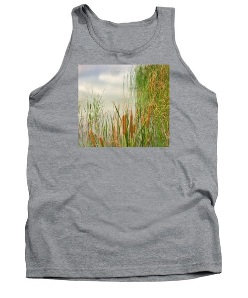 Tank Top featuring the photograph Cattails by Marilyn Diaz