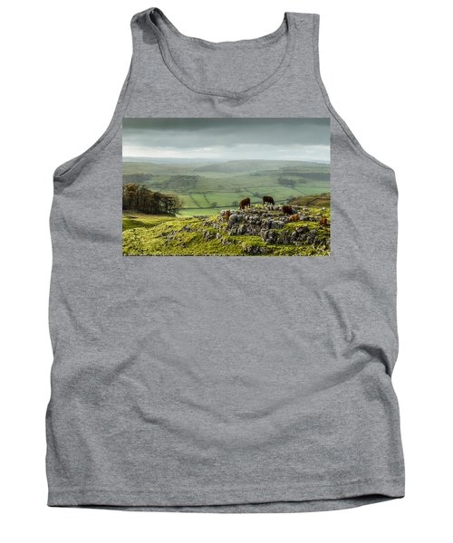 Cattle In The Yorkshire Dales Tank Top