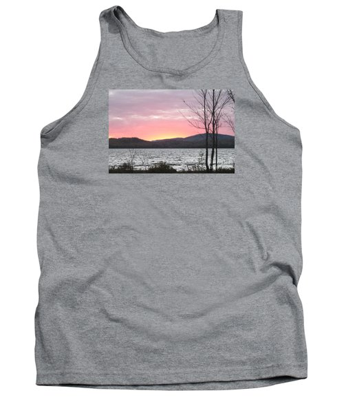 Caucomgomoc Lake Sunset In Maine Tank Top