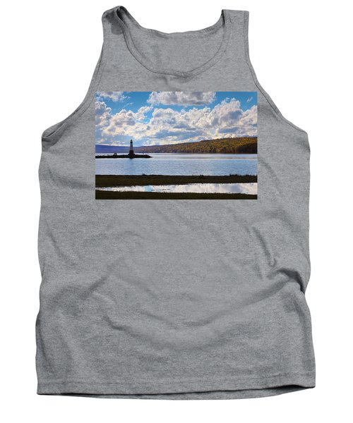 Tank Top featuring the photograph Cayuga Lake In Colorful Fall Ithaca New York IIi by Paul Ge