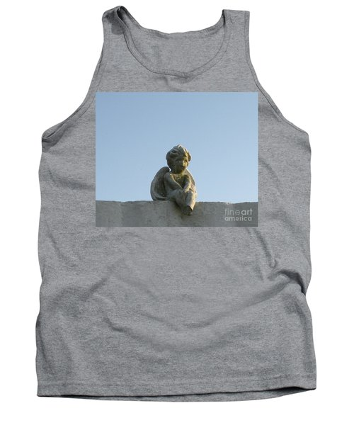 Tank Top featuring the photograph Cemetery Cherub by Joseph Baril