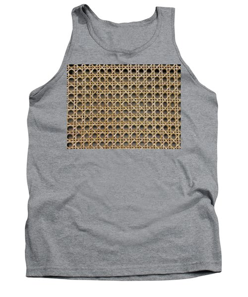 Tank Top featuring the photograph Chair Caning  by Sherman Perry
