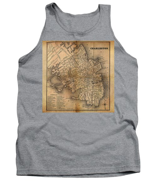 Charleston Vintage Map No. I Tank Top by James Christopher Hill