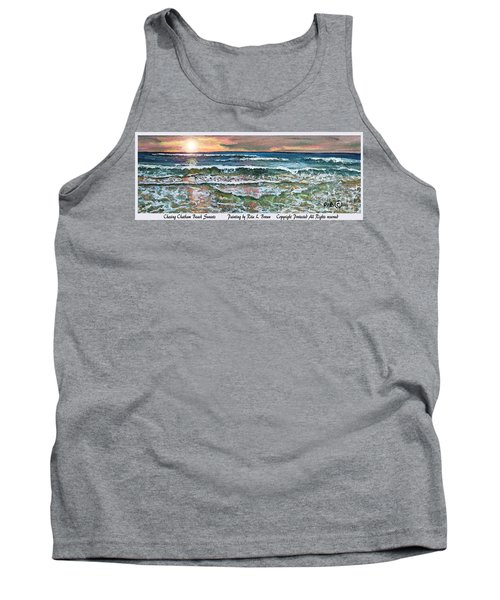 Tank Top featuring the painting Chasing Chatham Beach Sunsets by Rita Brown