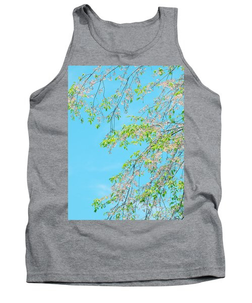 Tank Top featuring the photograph Cherry Blossoms Falling by Rachel Mirror