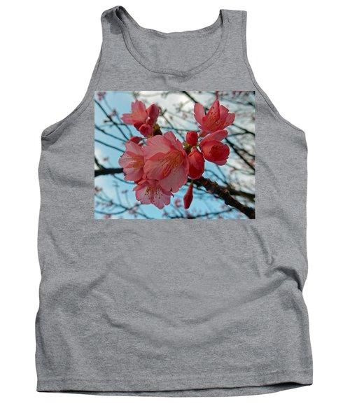 Cherry Blossoms Tank Top by Pamela Walton