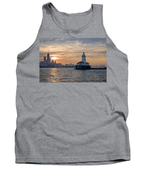 Chicago Lighthouse And Skyline Tank Top