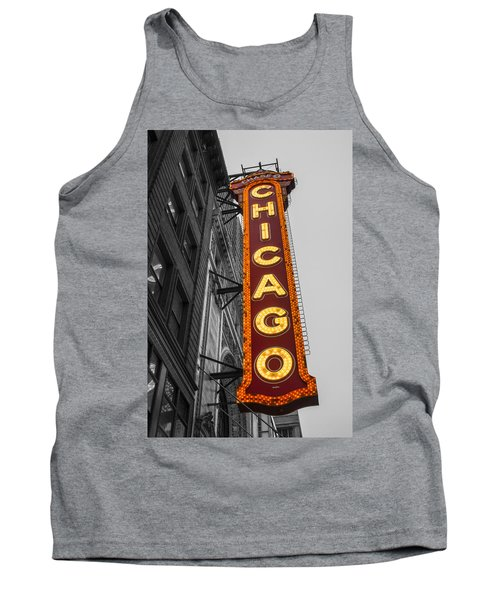 Chicago Theater Selective Color Tank Top