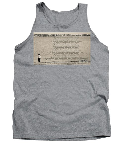 Children Learn What They Live 2 Tank Top