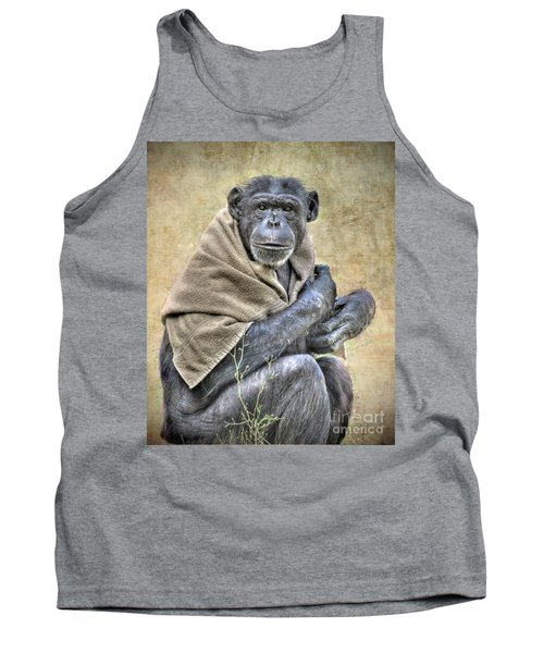 Tank Top featuring the photograph Chimpanzee by Savannah Gibbs