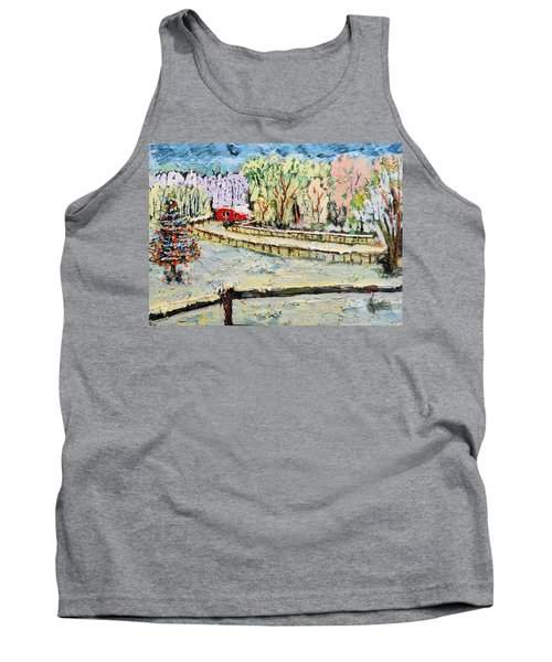 Christmas At Cissy's Farm Tank Top by Michael Daniels