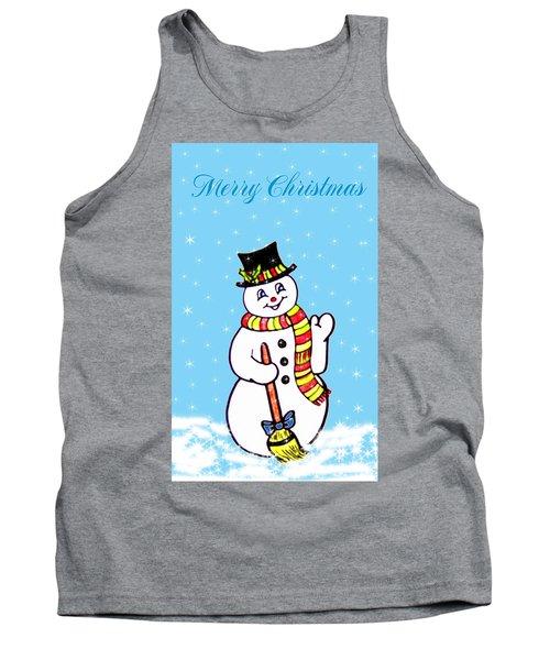 Christmas Snowman Tank Top