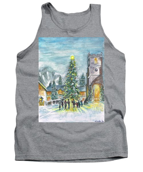 Tank Top featuring the painting Christmas Spirit by Teresa White