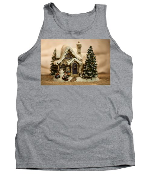 Tank Top featuring the photograph Christmas Toy Village by Alex Grichenko