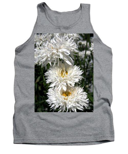 Chrysanthemum Named Crazy Daisy Tank Top by J McCombie