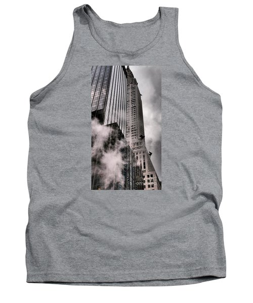 Chrysler Building With Gargoyles And Steam Tank Top
