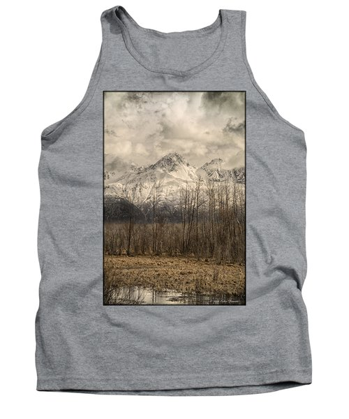 Chugach Mountains In Storm Tank Top