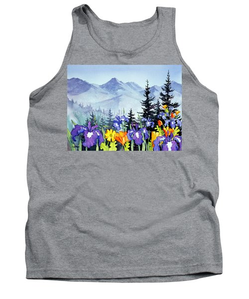 Tank Top featuring the painting Chugach Summer by Teresa Ascone