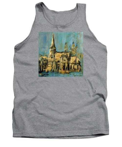 Tank Top featuring the painting Church by Arturas Slapsys